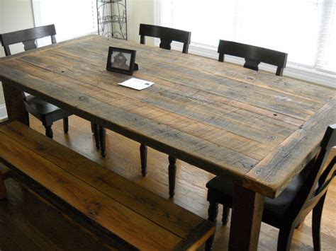 rustic barnwood farmhouse table rustic woodworx