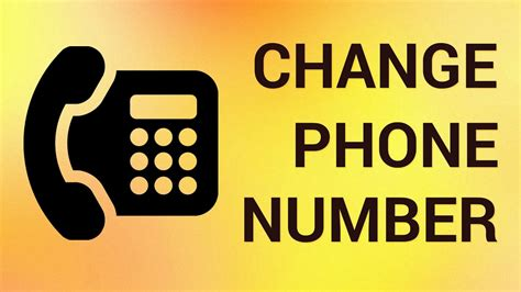 How To Change Phone Number Online Youtube