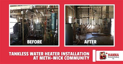 tankless water heater installation  meth wick community