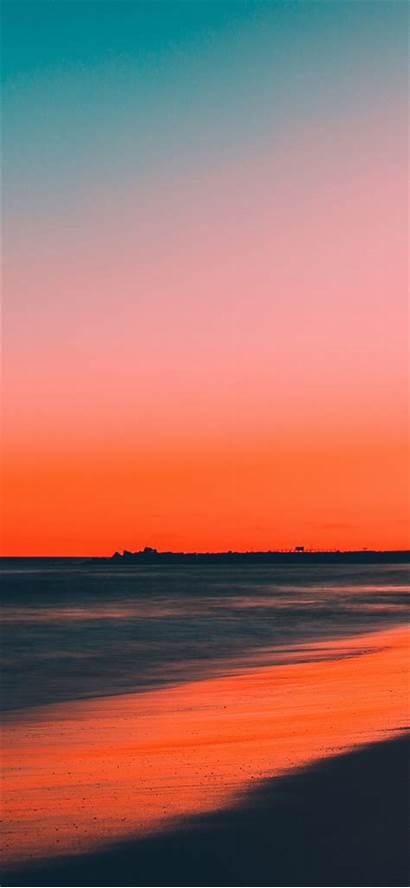 Iphone Sunset Beach Night Nature Clean Skyline