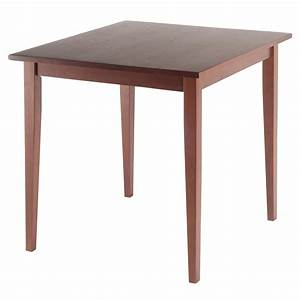 Amazoncom winsome wood groveland square dining table in for Square dining table
