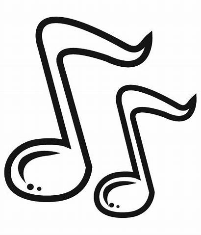 Notes Clip Symbols Clipart Coloring Musical Printable