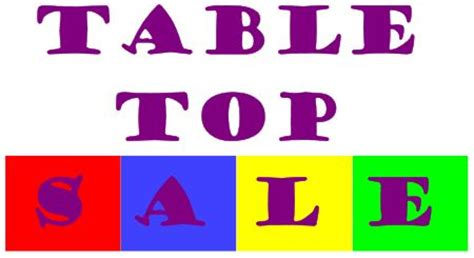 Tabletop Sale by Table Top Sale Your Local Bury
