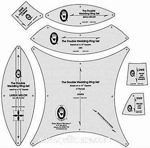 double wedding ring templates quiltdaze With double wedding ring quilt template