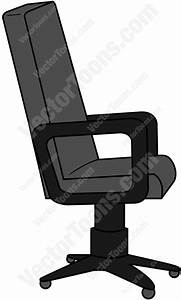Side View Of An Office Chair Cartoon Clipart - Vector Toons