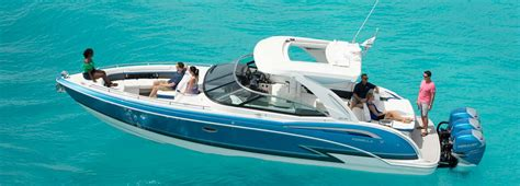Crownline Boats Corporate Office 350 crossover bowrider available with outboard or