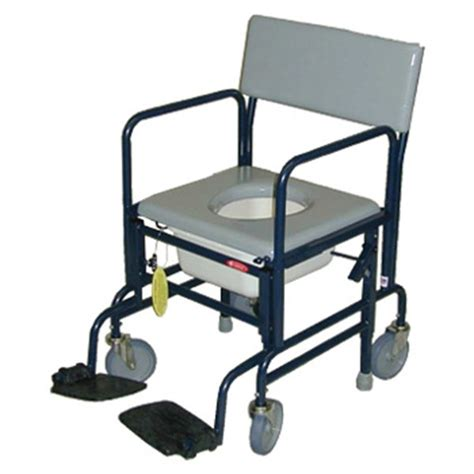 activeaid folding shower commode chair with 5 quot caster