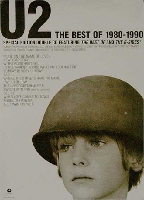 u2 the best of 1980 1990 u2 the best of 1980 1990 poster uk promo poster 510464