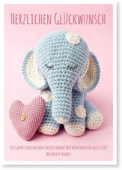 kleiner elefant grusskarten geburt  bestellen