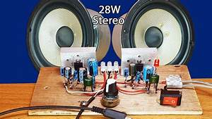 How To Make Easy Stereo Amplifier Circuit Ic Tda 2003 28w