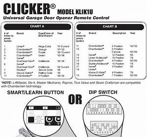 Chamberlain Garage Door Remote Instructions