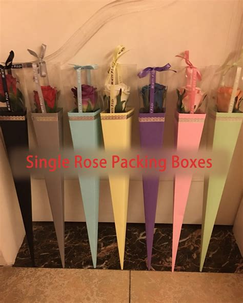 arriving single rose bags gift box  wedding party