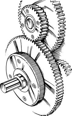 Blueprint Cogs   Gear drawing, Gear tattoo, Embroidery machines for sale