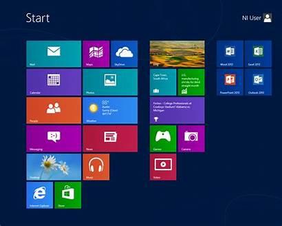 Windows Start Screen Menu Tiles Microsoft Labview