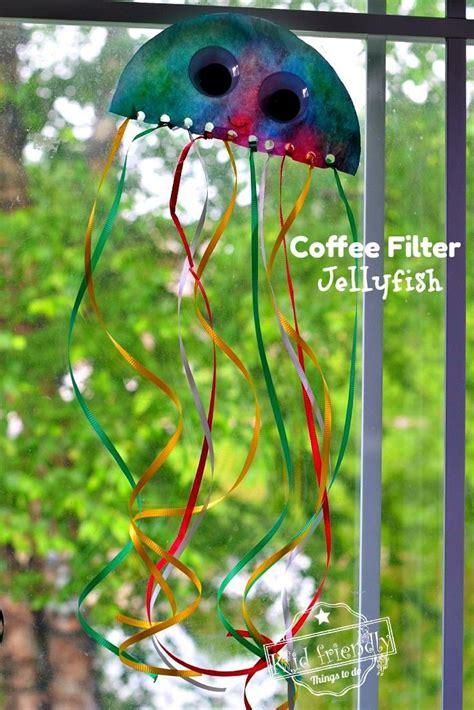 Coffee Filter Jellyfish Sun Catcher An Easy Ocean Craft ...