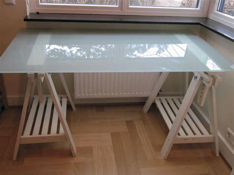Glas Schreibtisch Ikea  Hause Deko Ideen