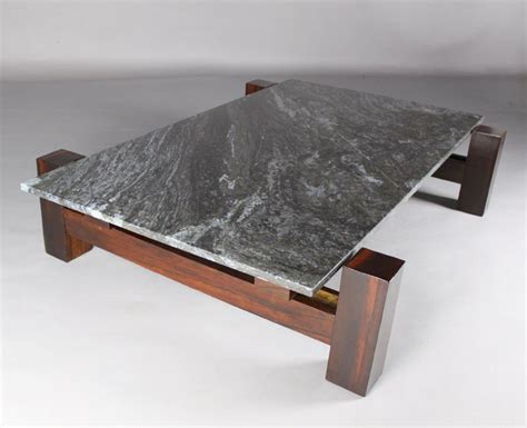 rosewood and black granite coffee table at 1stdibs