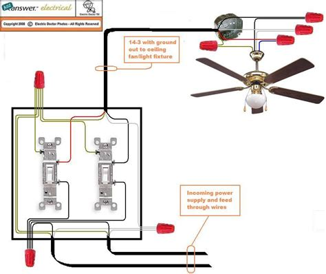 Wiring Ceiling Fan With Two Switches