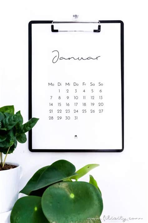 minimalistischer kalender druckvorlage handmade kultur