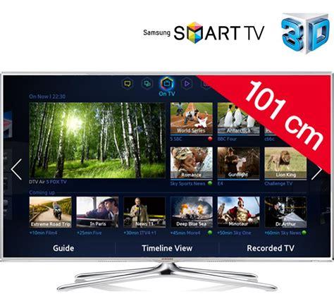 tv led pas cher carrefour samsung ue40f6510 t 233 l 233 viseur led 3d smart tv ventes pas cher