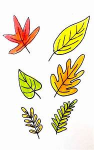 7 Ways to Draw Fall Leaves | Dawn Nicole Designs®