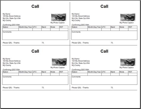 qsl cards  excel spreadsheet