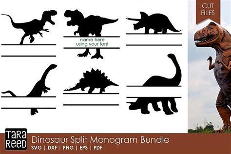 dinosaur monogram svg pack perfect  boys dinosaur svg boys boysvg designbundles