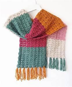 Crochet Color-block Scarf