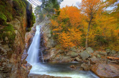 waterfalls, Usa, Autumn, Glen, Ellis, New, Hampshire ...