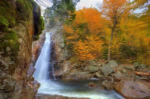 Waterfalls, Usa, Autumn, Glen, Ellis, New, Hampshire