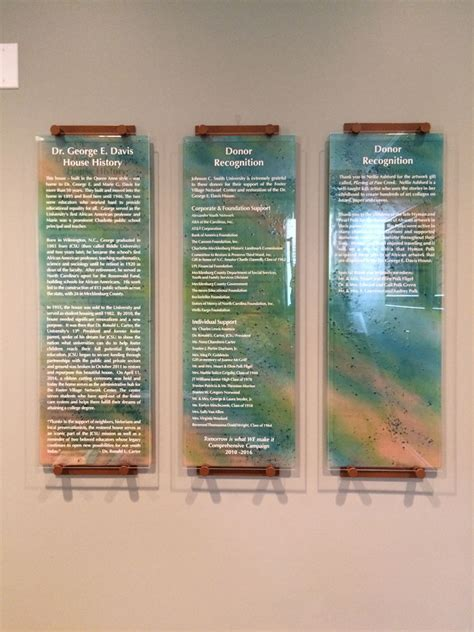 glass donor recognition panels designer glass mosaics