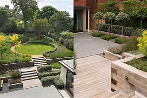 Beautiful town garden black granite stone paving hard for Wood design garden