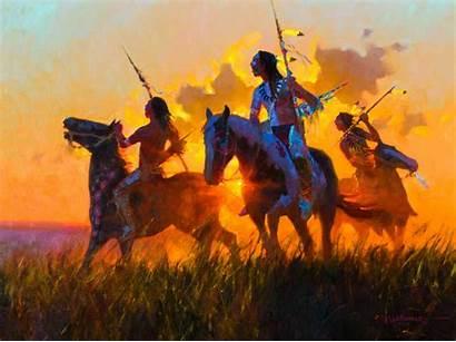 Dan Mieduch Native American Warriors Wallpapers Sunrise