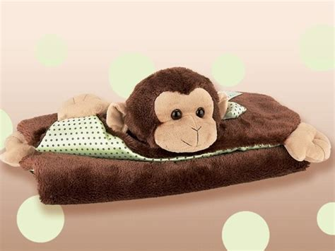 Giggles Brown Monkey Belly Blanket Crochet Edging On Blanket Child With Pink Faux Fur Throw Curious George Baby Price Travel Electric Voltage Feeding
