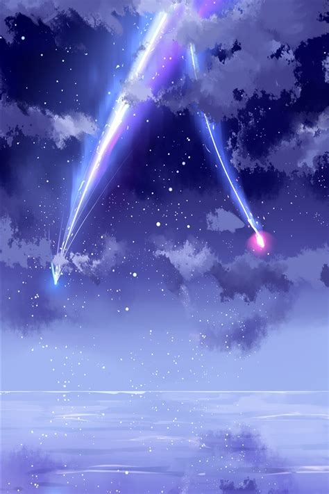 Anime Wallpaper Iphone X by Wallpaper Your Name Beautiful Sky Meteor Anime