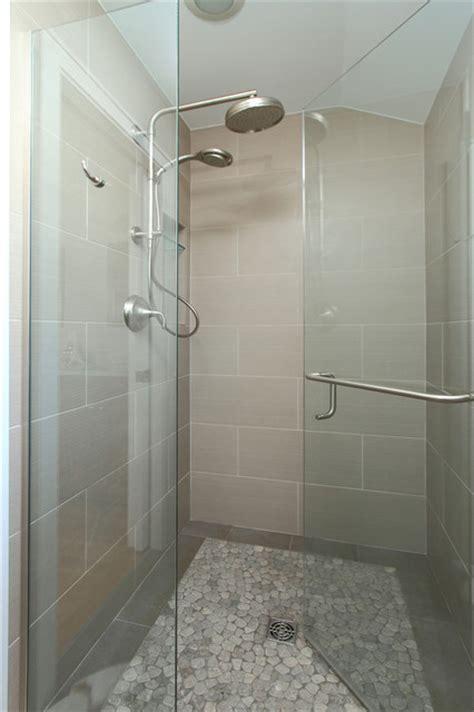 walk  shower contemporary bathroom minneapolis