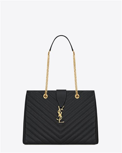 saint laurent classic monogramme shopping tote bag