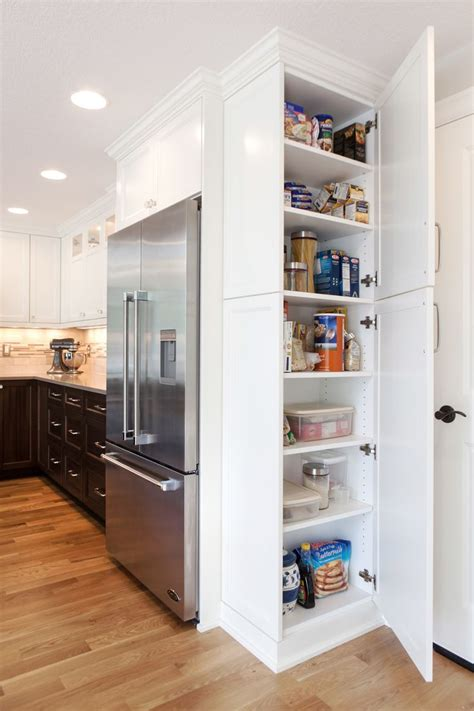 bright white kitchen storage soluations   home