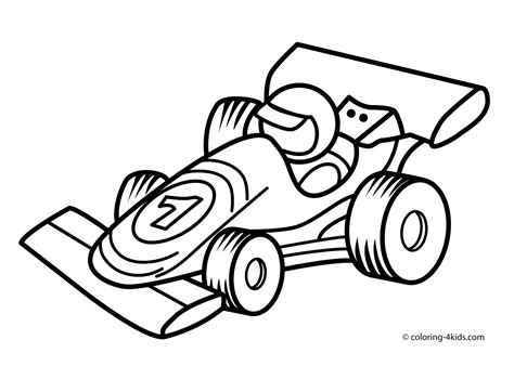 Racing car transportation coloring pages for kids