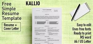 Professional Resume Cover Letter Template Kallio Simple Resume Word Template Docx