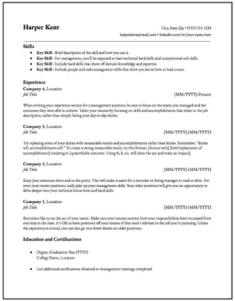 Hybrid Resume Template by Why The Hybrid Resume Is The Best Resume Format