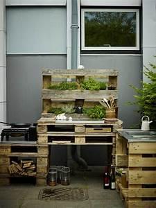 Küchen Selber Bauen : outdoor k che aus paletten selber bauen residence ~ Watch28wear.com Haus und Dekorationen