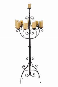 spanish revival wrought iron 8 arm candle holder chairish With kitchen cabinets lowes with 5 arm candle holder