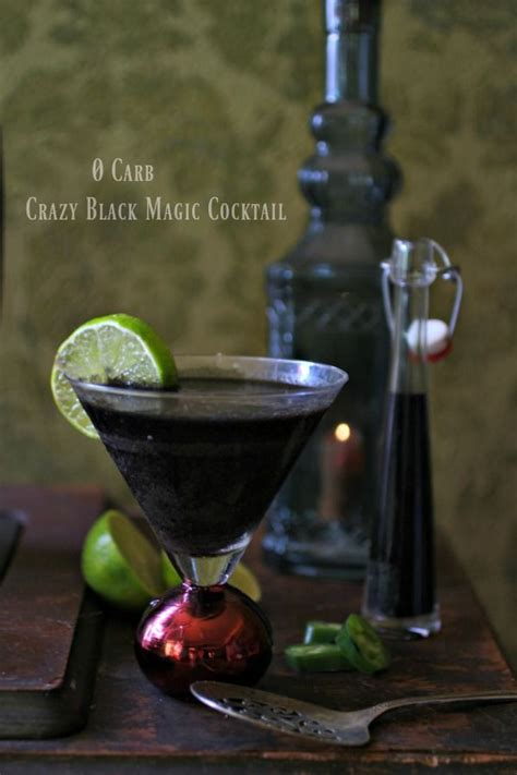 Coffee liqueurs are essential for cocktails like the white and black russian. Black Colored Cocktail - Crazy Black Magic | Lowcarb-ology