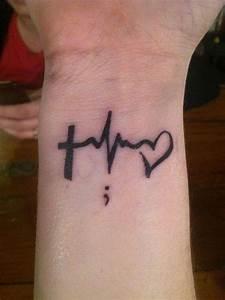 20 Cute Semicolon Tattoo Design Ideas | Tattoos ...