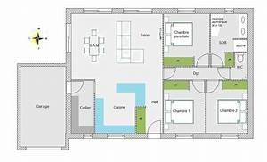 maison 70m2 plein pied menuiserie With plan maison 70m2 plein pied