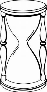Hourglass Clipart Glass Hour Clip Line Sand Cliparts Coloring Timer Drawings Clock Shape Stopwatch Duration Animated Drawing Outline Pages Empty sketch template