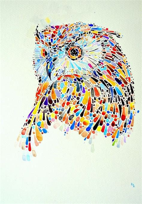 animal paintings   hundreds  colored dots