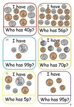 uk money games  activities  images teaching