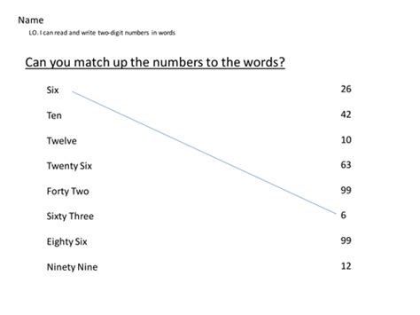 reading  writing numbers  words  tkd teaching